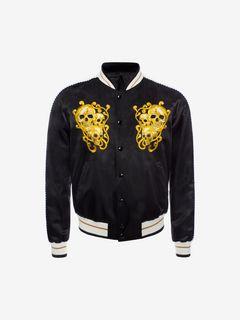 ALEXANDER MCQUEEN Bomber Jacket U Embroidered Skull Blouson Jacket f