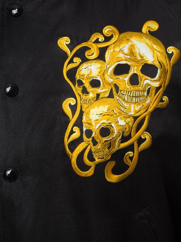 ALEXANDER MCQUEEN Embroidered Skull Blouson Jacket Bomber Jacket U a