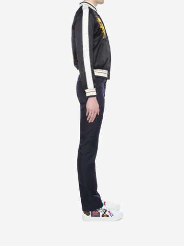 ALEXANDER MCQUEEN Embroidered Skull Blouson Jacket Bomber Jacket U d