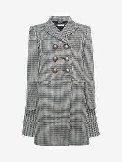 ALEXANDER MCQUEEN Coat D Double-Breasted Cape Coat f
