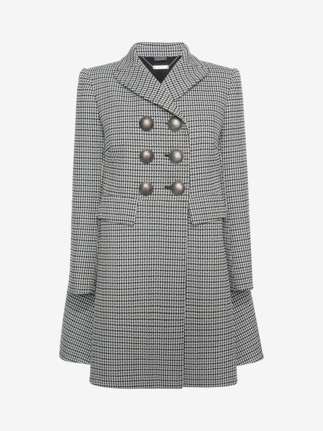 ALEXANDER MCQUEEN Double-Breasted Cape Coat Coat D f