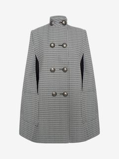ALEXANDER MCQUEEN Coat D Double-Breasted Military Cape f
