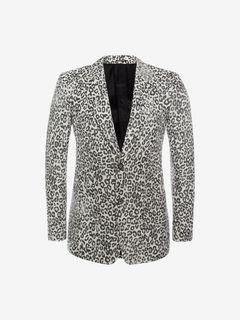 ALEXANDER MCQUEEN Tailored Jacket U Faded Leopard Jacket f