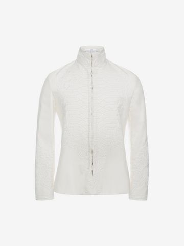 ALEXANDER MCQUEEN Silk Habotai Jacket Jacket U f
