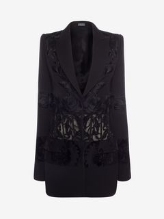 ALEXANDER MCQUEEN Jacket D Embroidered Corseted Jacket f