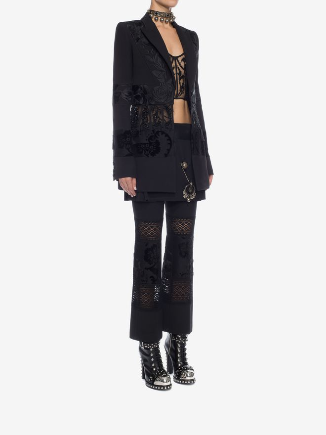 ALEXANDER MCQUEEN Embroidered Corseted Jacket Jacket D d