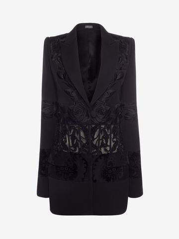 ALEXANDER MCQUEEN Embroidered Corseted Jacket Jacket D f