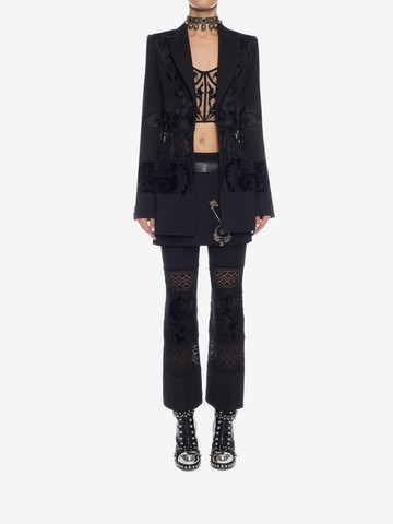 ALEXANDER MCQUEEN Embroidered Corseted Jacket Jacket D r
