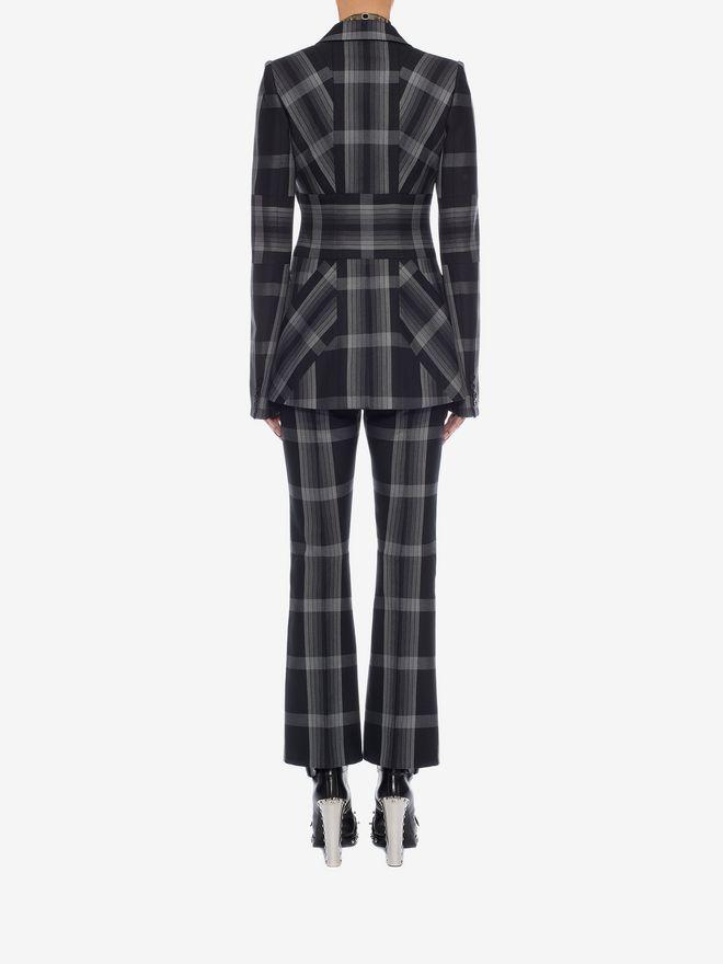 ALEXANDER MCQUEEN Panelled Wool Plaid Jacket Jacket D e