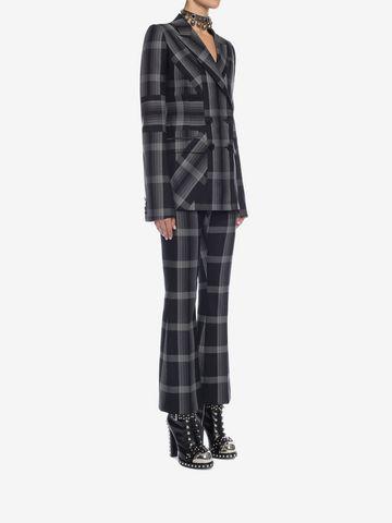 ALEXANDER MCQUEEN Panelled Wool Plaid Jacket Jacket D d