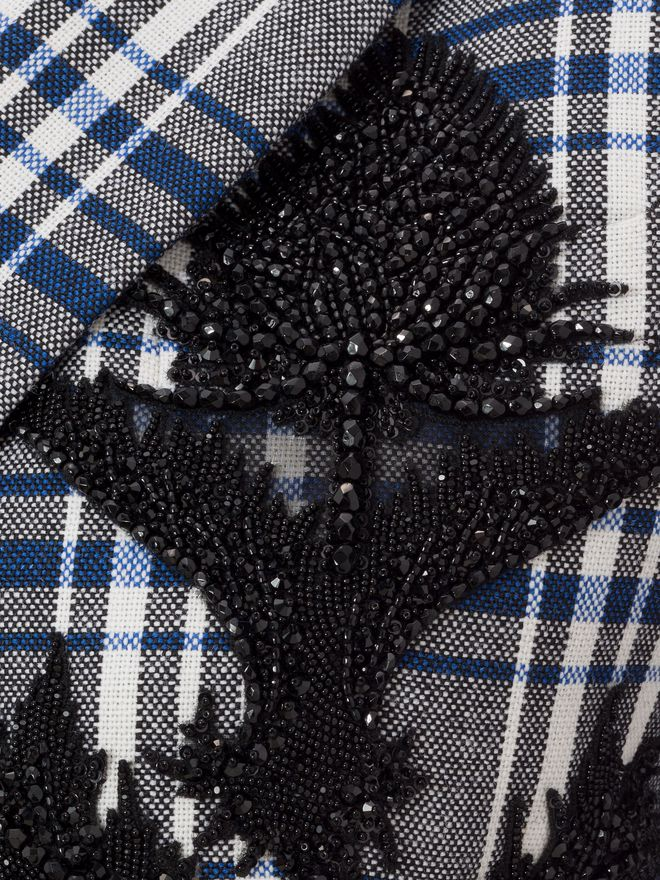 ALEXANDER MCQUEEN Embroidered Celtic Check Jacket Jacket D a