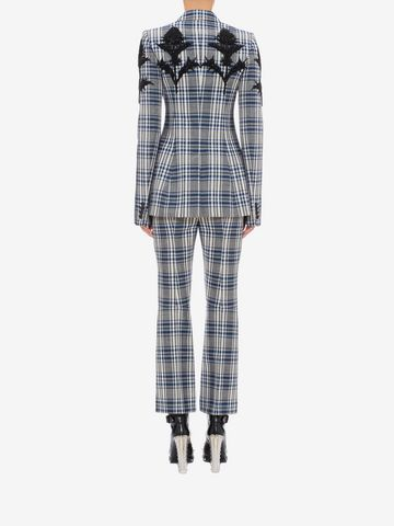 ALEXANDER MCQUEEN Embroidered Celtic Check Jacket Jacket D e