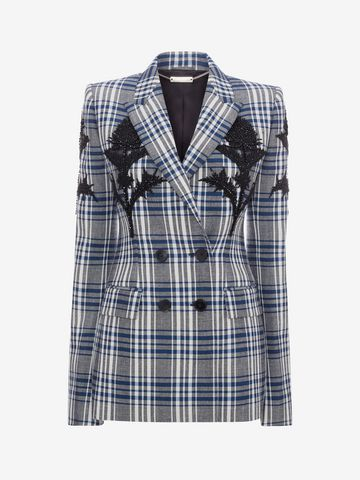 ALEXANDER MCQUEEN Embroidered Celtic Check Jacket Jacket D f