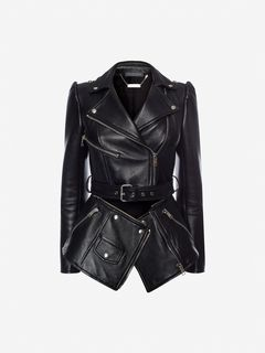 ALEXANDER MCQUEEN Jacket Woman Zipped Biker Jacket f