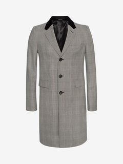 ALEXANDER MCQUEEN Coat U Prince of Wales Fitted Coat f