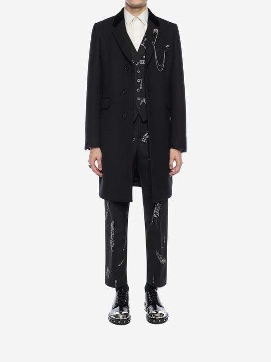 ALEXANDER MCQUEEN Silk Wool Fitted Coat Coat U r