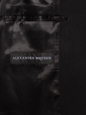 ALEXANDER MCQUEEN Silk Wool Fitted Coat Coat Man a