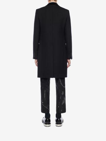 ALEXANDER MCQUEEN Silk Wool Fitted Coat Coat Man e