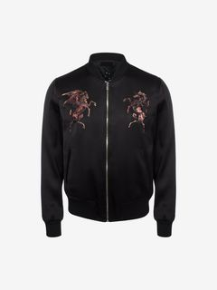 ALEXANDER MCQUEEN Bomber Jacket U Satin Embroidered Bomber f