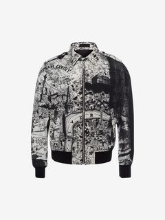 "ALEXANDER MCQUEEN Bomber Jacket U ""London Map"" Printed Blouson f"