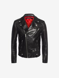 ALEXANDER MCQUEEN Jacket U Black Biker Jacket f
