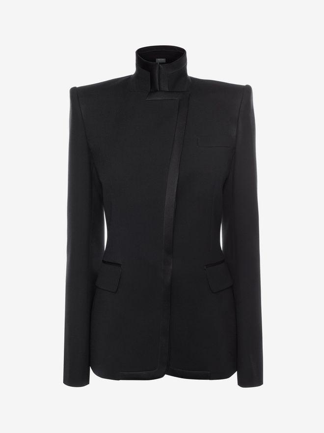 ALEXANDER MCQUEEN Asymmetric Jacket Jacket D f