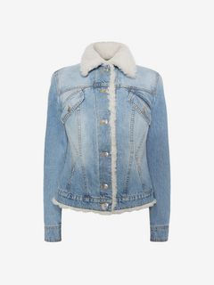 ALEXANDER MCQUEEN ジャケット D Shearling Denim Jacket f
