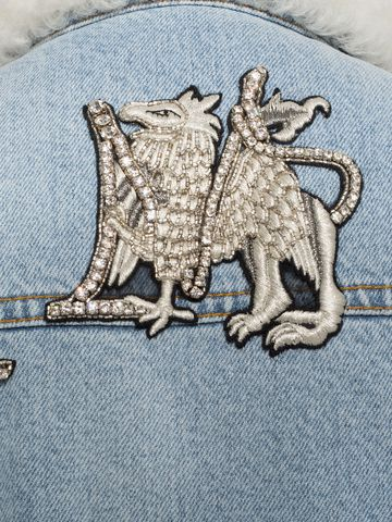 ALEXANDER MCQUEEN Shearling Denim Jacket Jacket D l