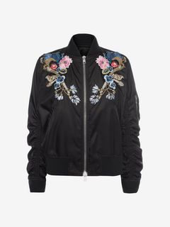 ALEXANDER MCQUEEN ボンバージャケット D Embroidered Bomber Jacket f