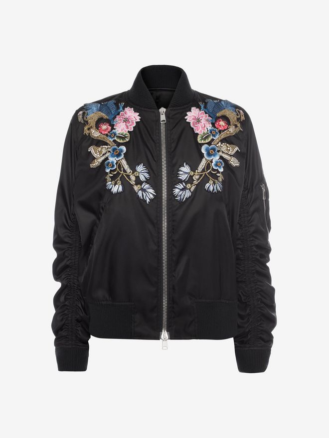 ALEXANDER MCQUEEN Embroidered Bomber Jacket Bomber Jacket D f