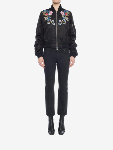 ALEXANDER MCQUEEN Embroidered Bomber Jacket Bomber Jacket D r