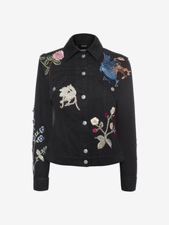 ALEXANDER MCQUEEN Jacket D Embroidered Denim Jacket f
