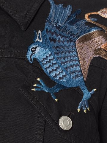 ALEXANDER MCQUEEN Embroidered Denim Jacket Jacket D a