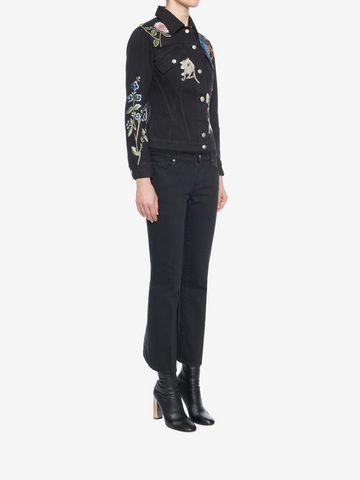 ALEXANDER MCQUEEN Embroidered Denim Jacket Jacket D d