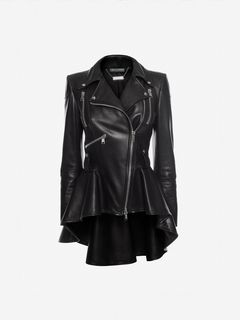 ALEXANDER MCQUEEN Jacket Woman Leather Biker Jacket f