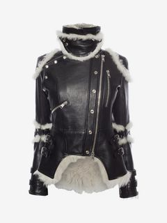 ALEXANDER MCQUEEN Jacket D Leather Biker Jacket f
