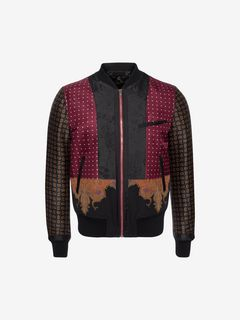 ALEXANDER MCQUEEN Giacca Bomber U Bomber Patchwork f