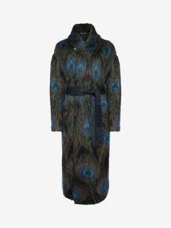 ALEXANDER MCQUEEN Coat U Mohair Shawl Coat f