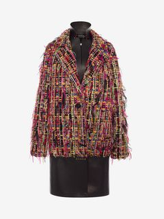 ALEXANDER MCQUEEN Manteau D Manteau oversize en tweed Wishing Tree f