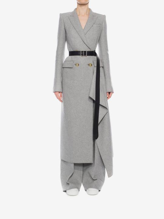ALEXANDER MCQUEEN Double-Breasted Drape Coat Coat D r