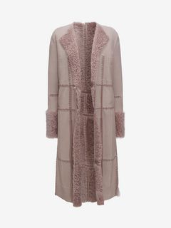 ALEXANDER MCQUEEN Coat D Reversible Shearling Coat f