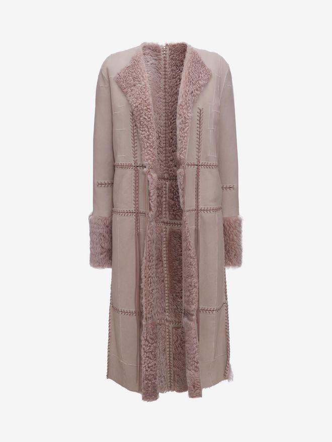 ALEXANDER MCQUEEN Reversible Shearling Coat Coat D f