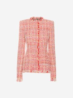 ALEXANDER MCQUEEN Jacket Woman Ribbon Tweed Jacket f