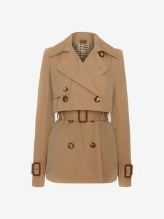 ALEXANDER MCQUEEN Coat Woman Short Trench Coat f