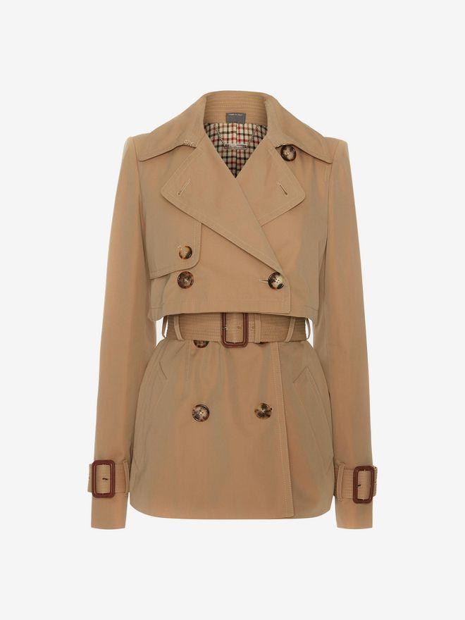 ALEXANDER MCQUEEN Short Trench Coat Coat D f