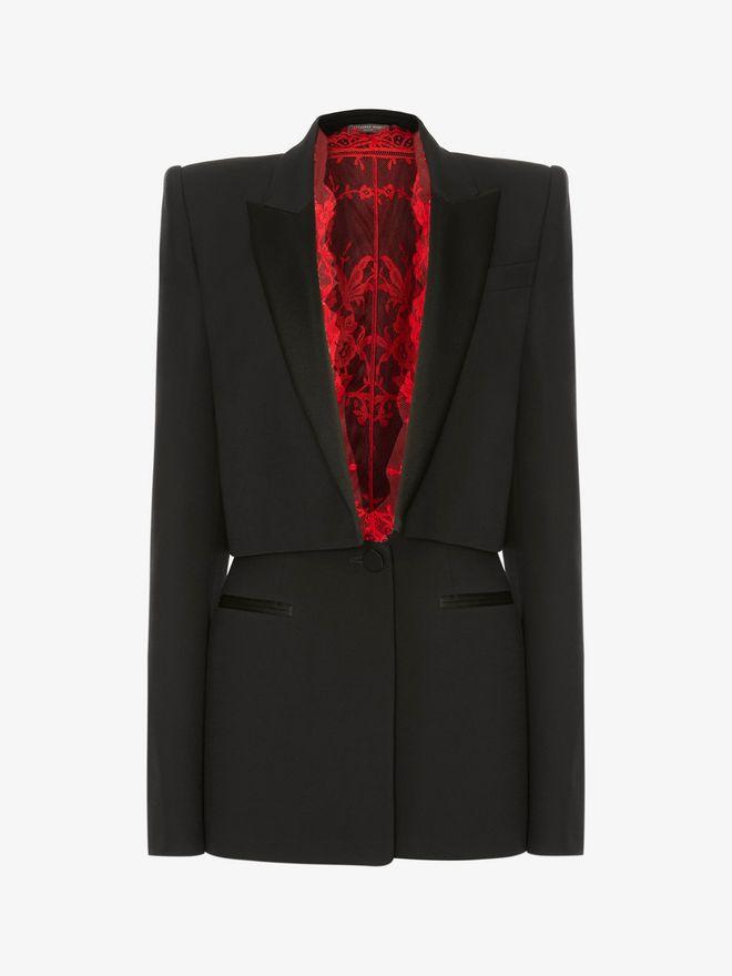 ALEXANDER MCQUEEN Sarabande Lace Box Jacket Jacket D f