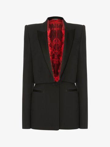 ALEXANDER MCQUEEN Sarabande Lace Box Jacket Jacket Woman f