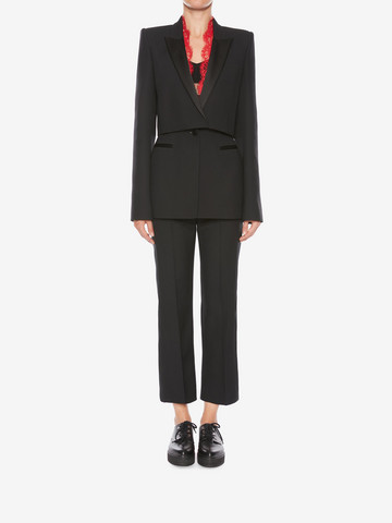 ALEXANDER MCQUEEN Sarabande Lace Box Jacket Jacket Woman r