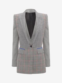 ALEXANDER MCQUEEN Jacket Woman Prince of Wales Tailored Jacket f