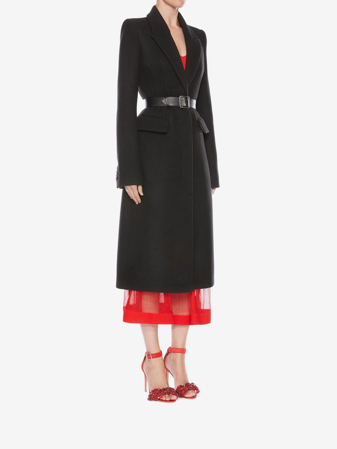 ALEXANDER MCQUEEN Cashmere Corset Coat Coat D d